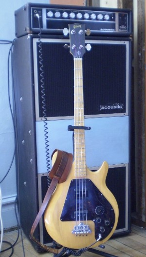 Gibson bass and Acoustic amp
